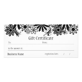 Black And White Dotted Gift Certificate