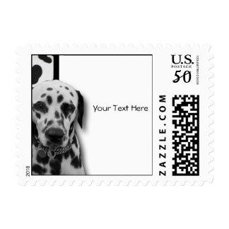 Black and White Dotty Dalmatian Postage