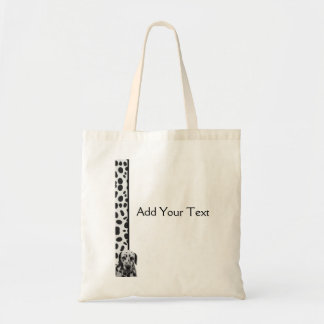Black and White Dotty Dalmatian Tote Bag