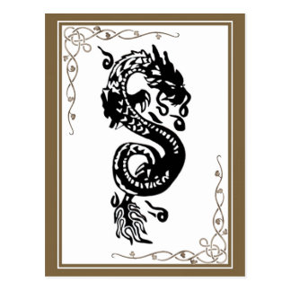 Black And White Dragon Postcard
