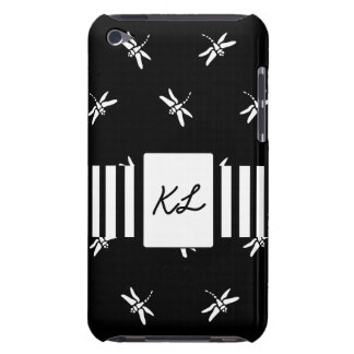 Black and White Dragonfly Cell Phone Case