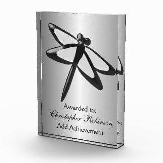 Black And White Dragonfly Just Add Text Acrylic Award