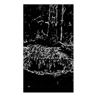 black and white drawing business card