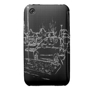 black and white drawing iPhone 3 case