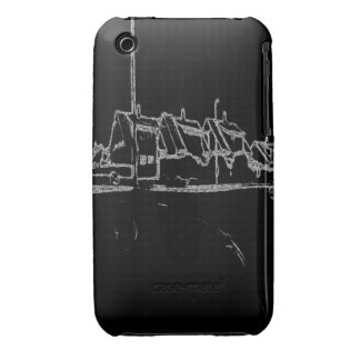 black and white drawing iPhone 3 Case-Mate case