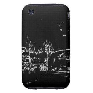 black and white drawing iPhone 3 tough cover