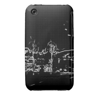 black and white drawing Case-Mate iPhone 3 cases