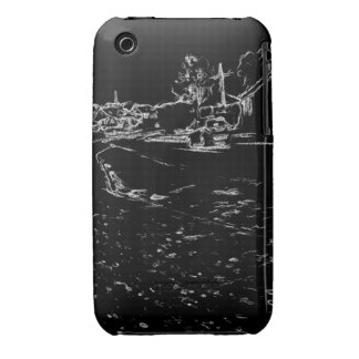 black and white drawing iPhone 3 cover