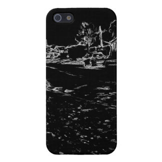 black and white drawing covers for iPhone 5