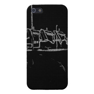 black and white drawing iPhone 5 case