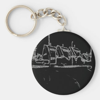 black and white drawing keychains