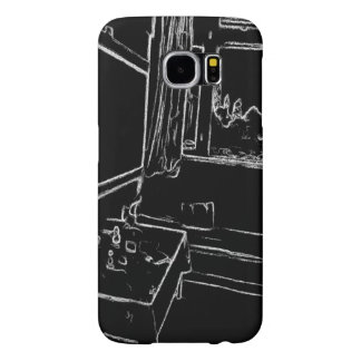 black and white drawing resting room samsung galaxy s6 cases