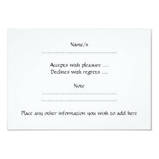 Black and White Dutch Rabbit. 3.5x5 Paper Invitation Card