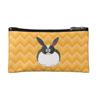 Black and White Dutch Rabbit. Cosmetic Bag