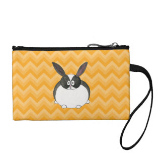 Black and White Dutch Rabbit. Coin Wallet