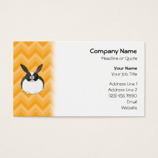 Black and White Dutch Rabbit. Business Card