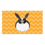 Black and White Dutch Rabbit. Business Card Template