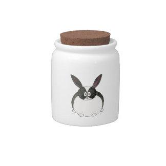 Black and White Dutch Rabbit Candy Jars