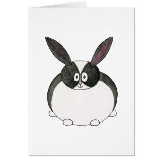 Black and White Dutch Rabbit. Cards