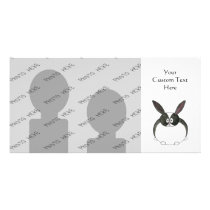 Black and White Dutch Rabbit. Card