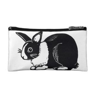 Black and White Dutch Rabbit Cosmetic Bag