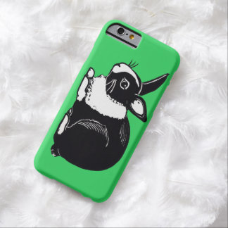 Black and White Dutch Rabbit Green iPhone 6 Case