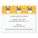 "Black and White Dutch Rabbit. 4.25"" X 5.5"" Invitation Card"