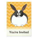 "Black and White Dutch Rabbit. 5"" X 7"" Invitation Card"