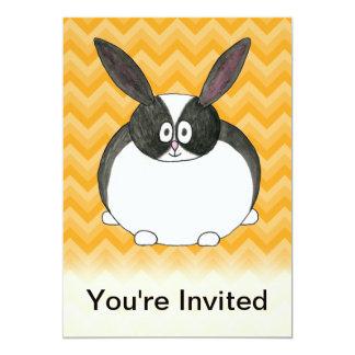 Black and White Dutch Rabbit. Custom Announcements