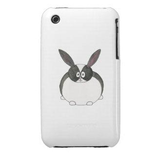 Black and White Dutch Rabbit. iPhone 3 Case