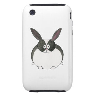 Black and White Dutch Rabbit. iPhone 3 Tough Cases
