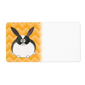 Black and White Dutch Rabbit. Custom Shipping Labels