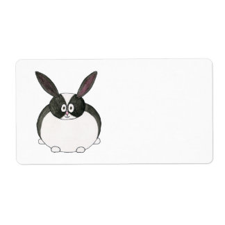 Black and White Dutch Rabbit. Label