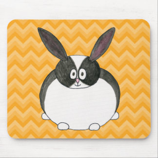 Black and White Dutch Rabbit. Mouse Pad