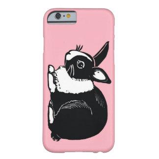 Black and White Dutch Rabbit Pink iPhone 6 Case