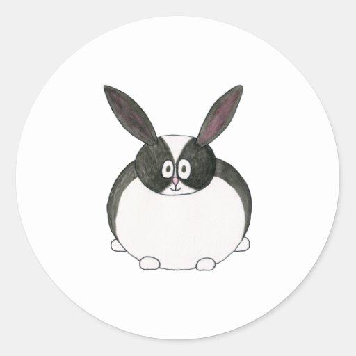 Black and White Dutch Rabbit. Classic Round Sticker