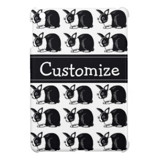 Black and White Dutch Rabbits Custom iPad Case