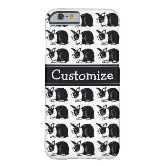 Black and White Dutch Rabbits Custom iPhone 6 Case