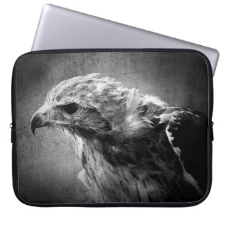 Black and white eagle computer sleeve