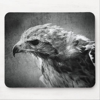 Black and white eagle mouse pad