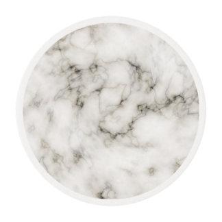 black and white Ebony Ivory marble stone finish Edible Frosting Rounds