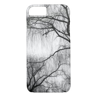 Black and White Eerie Willow Trees Bare Branches iPhone 7 Case