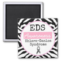 Black and White Ehlers-Danlos syndrome EDS Magnet