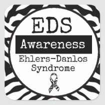 Black and White Ehlers-Danlos syndrome EDS Sticker