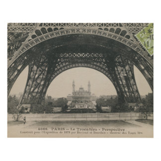 Black and White Eiffel Tower Base Panel Wall Art