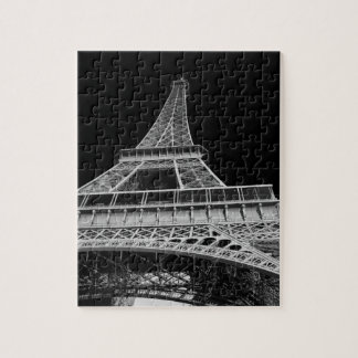 Black and White Eiffel Tower Jigsaw Puzzle