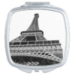 Black and White Eiffel Tower Mirror For Makeup