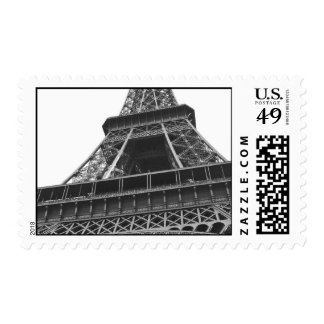 Black and White Eiffel Tower Postage