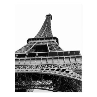 Black and White Eiffel Tower Post Card