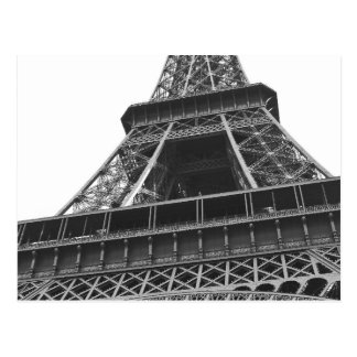 Black and White Eiffel Tower Postcards